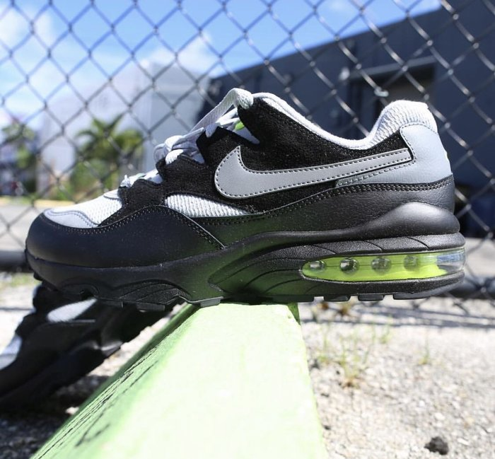 【Cheers】Nike Max 94 AV2300-001 黑灰 瑩光綠 灰黑 黑白 灰白 皮革 歐美限定 男鞋