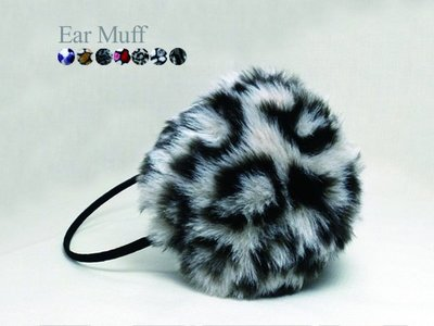 超哥小鋪【A3007】日韓最夯絨毛保暖耳罩 豹紋款 耳朵暖暖包