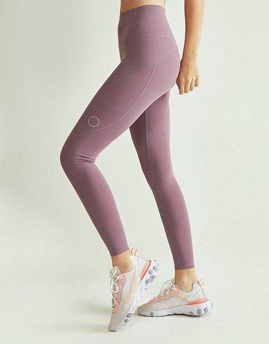 TuTu瑜珈精品╭☆韓國 Front 2 line【F2L - FPK058 裸感中高腰九分褲 - 紫色】瑜珈褲