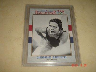 游泳運動員 美國隊 Debbie Meyer 1991 Impel 奧運美國隊 #34 球員卡