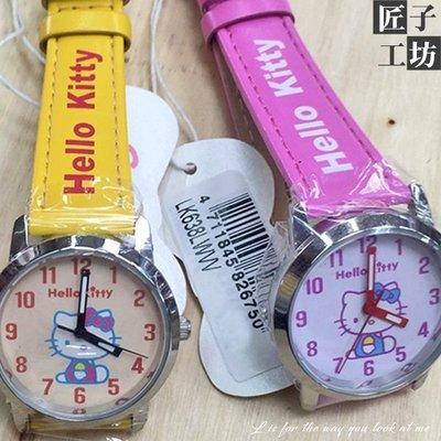 原廠三麗甌Hello Kitty時尚精品錶 眨眼/打字機圖樣設計 ☆匠子工坊☆【UQ0106】