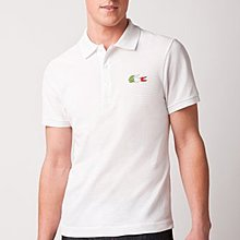 Lacoste Short Sleeve Pique Flag Polo 義大利 尺寸6
