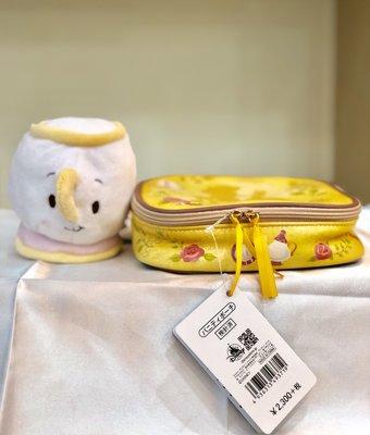 [日本 現貨] Disney 迪士尼  美女與野獸收納袋&杯子娃娃 兩個一起賣 全新