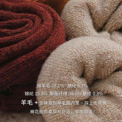 一米の陽光 【薇婭推薦】3雙裝羊毛襪子女冬季保暖加厚加絨中筒襪冬厚毛圈襪YMOP