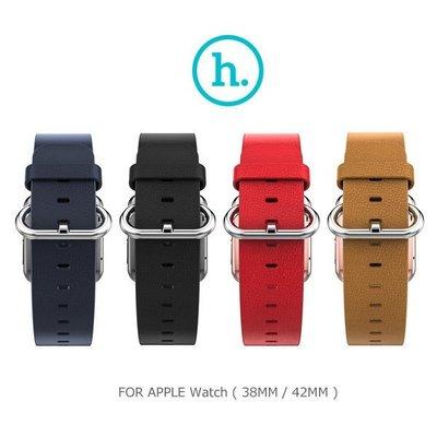 --庫米--HOCO Apple Watch (38mm / 42mm) 優尚皮錶帶 - 帕戈款