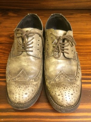 麥肯納MACANNA 灰綠 經典牛津雕花皮鞋 歐美時尚紳士(nick wooster loake dr martens)
