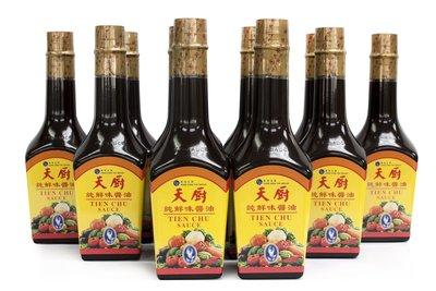 天廚牌純鮮味醬油730ml裝12支