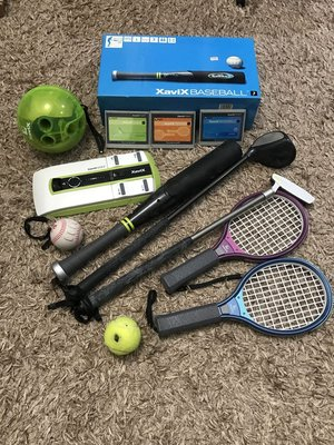 二手 XaviX  有氧運動/遊樂器/保齡球/高爾夫球/網球/棒球  全部一起帶走