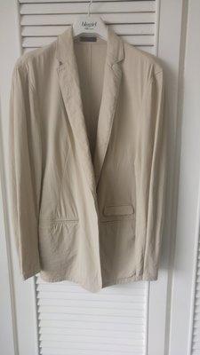 Jamei Chen 陳季敏 小羊毛+人造絲 米灰色西裝外套