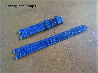 寶格麗B.Zero1海軍藍鱷魚錶帶訂製Bvlgari B.Zero1 navy blue crocodile strap