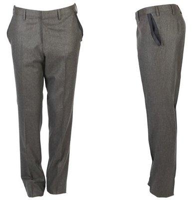 52碼【GOLD PFEIL 】超高檔夏綠蒂 SUPER150西裝褲/100% 純棉駝色打褶休閒褲