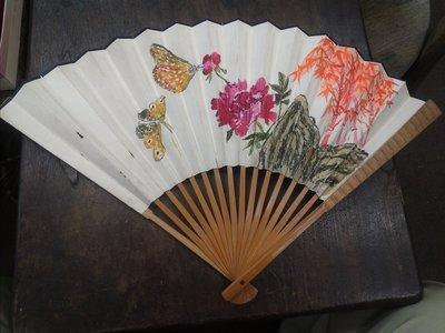 大草原典藏,台灣畫家韓君勳竹扇,特價兩天