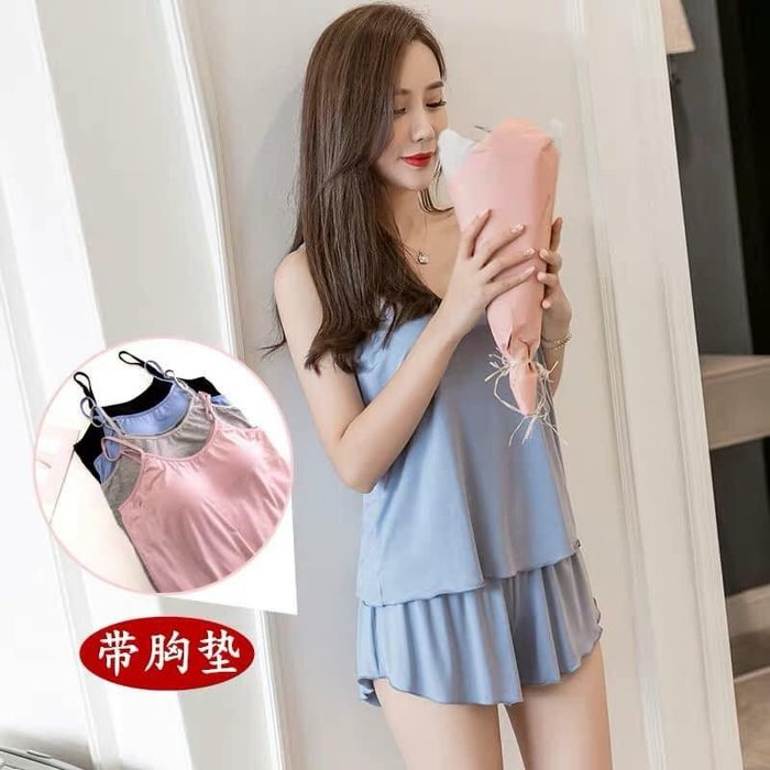 貓姐的團購中心~有大尺碼~F0546 棉花糖女孩帶胸墊睡衣~4種顏色~XL-4XL一套390元~預購款