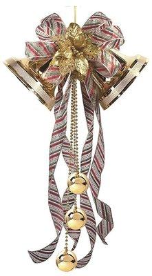 X射線【X320428】聖誕三色雙鐘12吋,聖誕節/聖誕佈置/聖誕掛飾/聖誕裝飾/聖誕吊飾