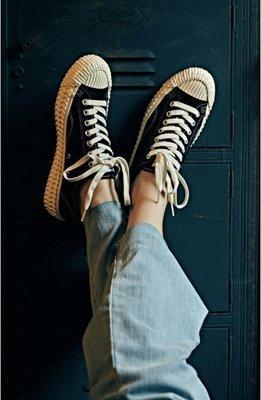 ㊣現貨㊣【管管小舖】全新特價 韓國帶回 法國品牌 韓國設計師設計 EXCELSIOR 餅乾鞋/帆布鞋 黑 尺寸23 24 25