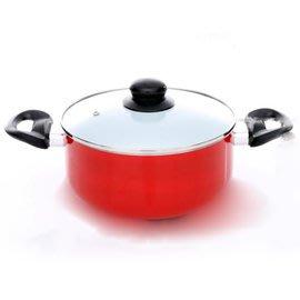 《固鋼》白陶瓷不沾湯鍋(內附鍋蓋) /不沾鍋/耐磨/均勻導熱