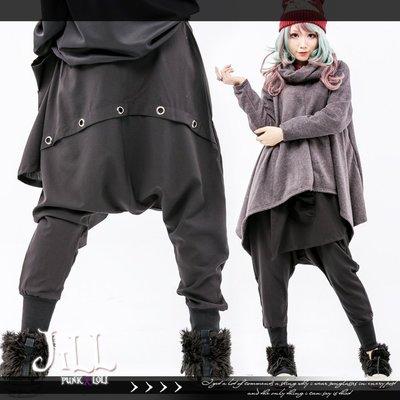 Oo吉兒oO【J2J2004】街頭龐克搖滾中性男孩風 雞眼扣一片裙造型素面尿布褲 PUNK ROCK