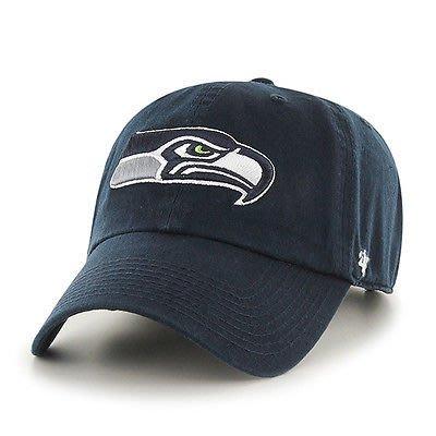 【YZY台灣】47 BRAND SEATTLE SEAHAWKS 海鷹 老帽 復古帽 老爺帽 NFL LOGO 經典 藍