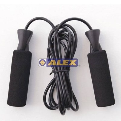 ALEX 泡綿握把跳繩 B-19 F $190 ◎泡棉手把設計。 ◎質輕堅固,適合各種體能運動。 台北市