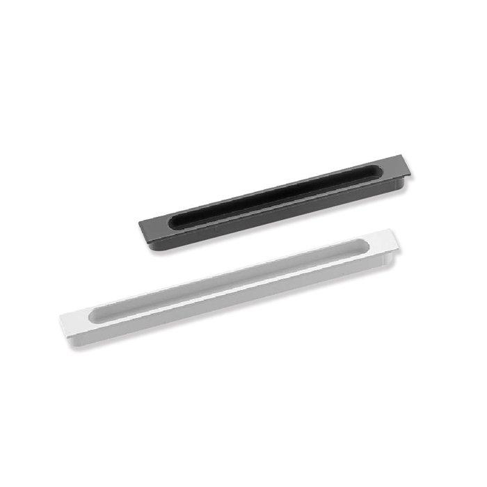 【 EASYCAN 】A796_160mm(水霧鉻) 易利裝生活五金 櫥櫃抽屜把手取手 推門崁入式鋁合金把手