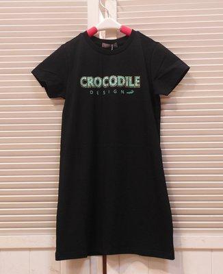 『小鱷魚Crocodie童裝-2020春夏款』557351 LOGO棉質短袖洋裝(120-180公分)親子裝☆優惠款☆