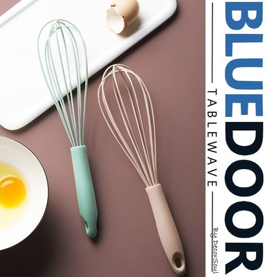 BlueD_ 馬卡龍配色 不鏽鋼 矽膠 打蛋器 攪拌棒 粉綠 粉紅 公主風 烘培工具 餐廳廚房 蛋糕奶油 IG款 網美風