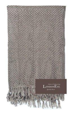 【 LondonEYE 】現代簡歐 質感純色毛海X低調奢華X床上用品/床旗/床尾毯 豪宅樣品屋(灰色)