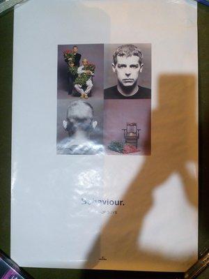 Pet Shop Boys 寵物店男孩 Behaviour 1990年海報。 76X51cm 全新沒張貼過