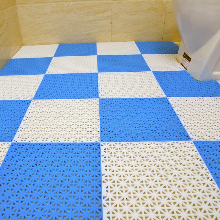 浴室防滑墊拼接廚房陽台衛生間淋浴房廁所酒店多色塑料防水地墊WY