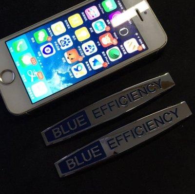 Mercedes Benz賓士改裝藍效動力BLUE EFFICIENCY 藍色效能車標 側標 車貼 車身貼