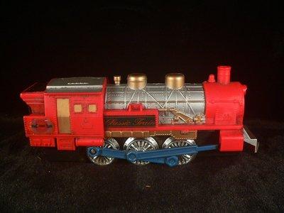 古玩軒~早期火車玩具 裝電池可行走 電動玩具  懷舊玩具(DM80)