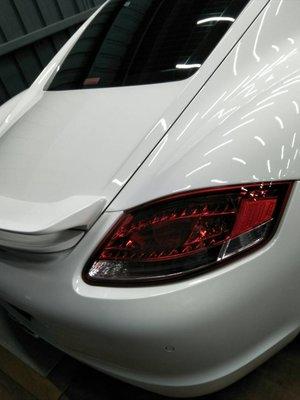 DJD19031906  PORSCHE CAYMAN 凱曼 987 新款 紅白 LED 尾燈