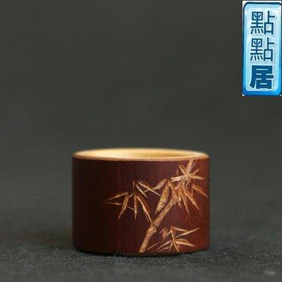 【點點居】手工雕刻老煤竹純手工雕刻竹雕扳指手把件竹把玩竹器文玩工藝品竹製品DD01542