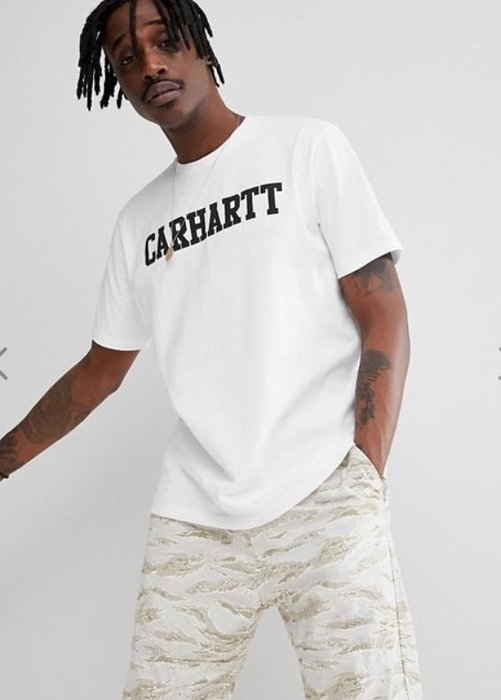 ☆AirRoom☆【現貨】 Carhartt WIP College logo t-shirt 厚磅數 短T