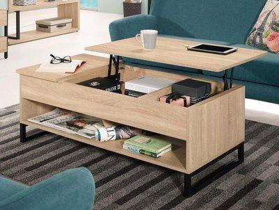 【風禾家具】FQM-777-2@MLS多功能4尺升降大茶几【台中7400送到家】沙發桌 客廳桌 浮雕壓紋 北歐風 傢俱