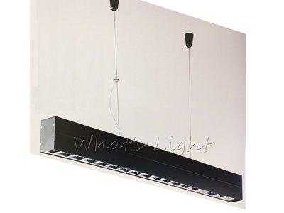 划得來LED燈飾~現代時尚高質感 T5 28W*2 高功率鋁格柵吊燈 OA辦公室照明 另有吸頂日光燈(P60303)