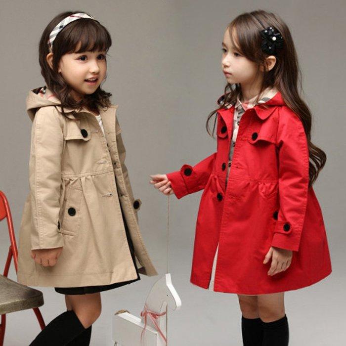 童裝女7-11全家正韓國版韓版童裝女童春秋裝外套英倫女童風衣小中大童兒童風衣加棉加厚12-15