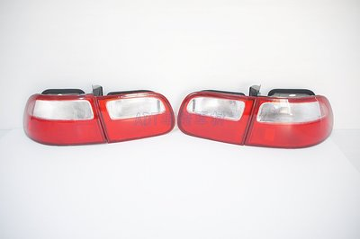 ~~ADT.車燈.車材~~HONDA 喜美5代 K6 92 93 94 95 3門 3D 紅白霧面尾燈組