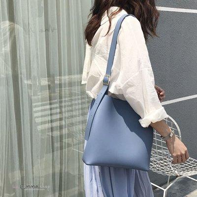 EmmsShop艾購物-韓國IG網紅推薦簡約百搭子母水桶包/托特包/肩背