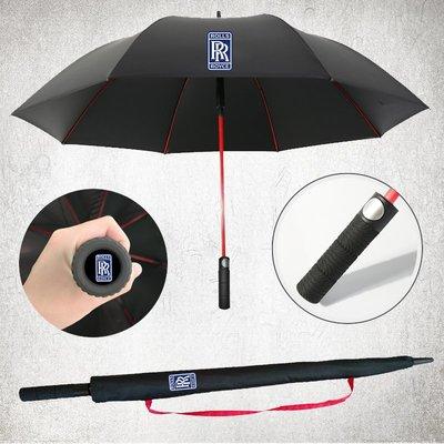 雨傘賓利瑪莎拉蒂邁巴赫特斯拉奔馳奧迪專用汽車標自動長柄大廣告雨傘(規格不同價格不同)