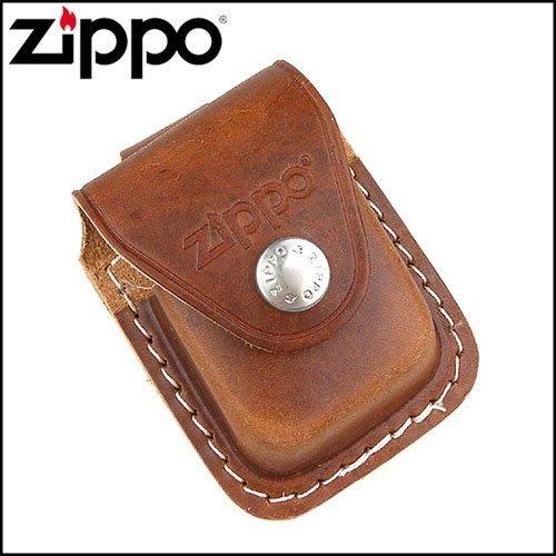☆哈洛德小舖☆全新【ZIPPO】金屬扣式~打火機皮套(棕色款)NO.LPLB