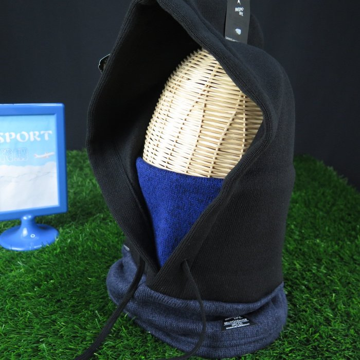 【iSport代購】日本代購  多用途BELLWOOD MADE 脖圍連帽 抗寒 內刷毛 4175171500黑藍