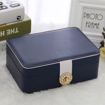 首飾盒 雙層簡約首飾盒公主歐式韓國首飾收納盒飾品盒耳環耳釘戒指收納盒