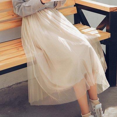 現貨免運新品!網紗半身裙女夏很仙超仙學生中長款適合胯大腿粗的仙女裙裙子