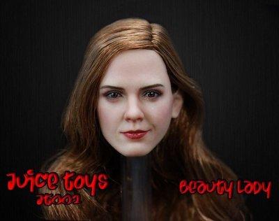 James room#Juice Toys 1/6女兵人 美麗之女 頭雕 JT002 艾瑪華森妙麗美女與野獸 phice