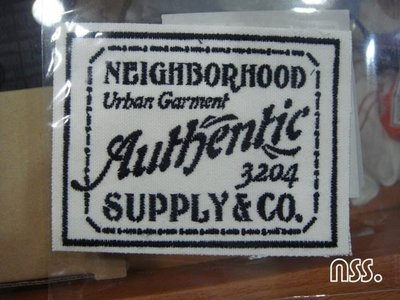 【NSS】NEIGHBORHOOD NBHD SUPPLY&CO C PATCH 白 貼布