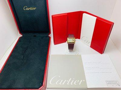 【黃忠政名錶】限量版全景掐絲琺瑯彩繪 盒單齊 卡地亞 Cartier Mini Tank Divan Cloisonné 限量生產20只 31*26mm