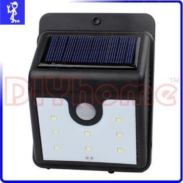 [DIYhome] 太陽能充電戶外照明燈 8LED 自動感應燈 庭院燈景觀燈防盜燈壁燈 免電池免拉線 Y503948 新北市