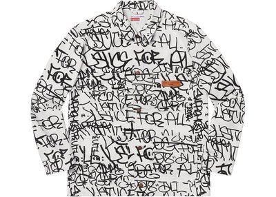 【Cheers】預購 Supreme  FW18 CDG 川久保玲  Printed Canvas Chore Coat