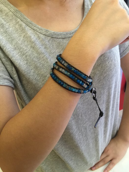 【江南小舖】正韓-長皮繩串珠手繩